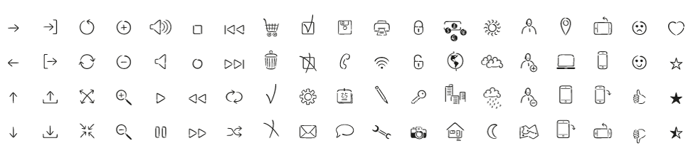 UI icons of Mister K Dingbats